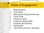 areas of engagement