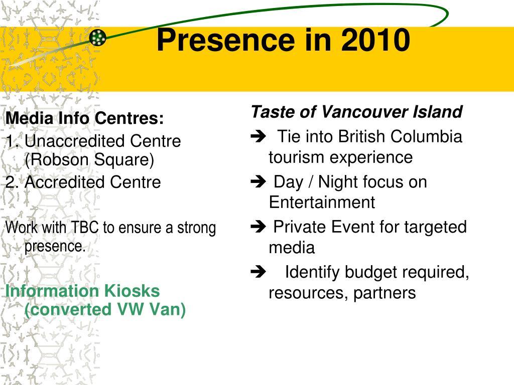 Media Info Centres: