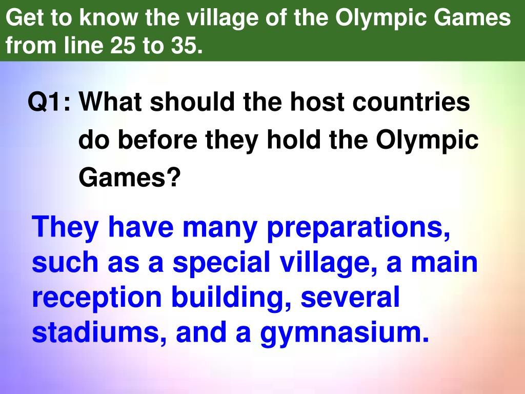 Q1: What should the host countries