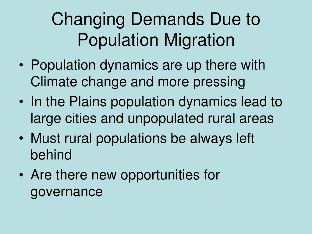 Changing Demands Due to Population Migration