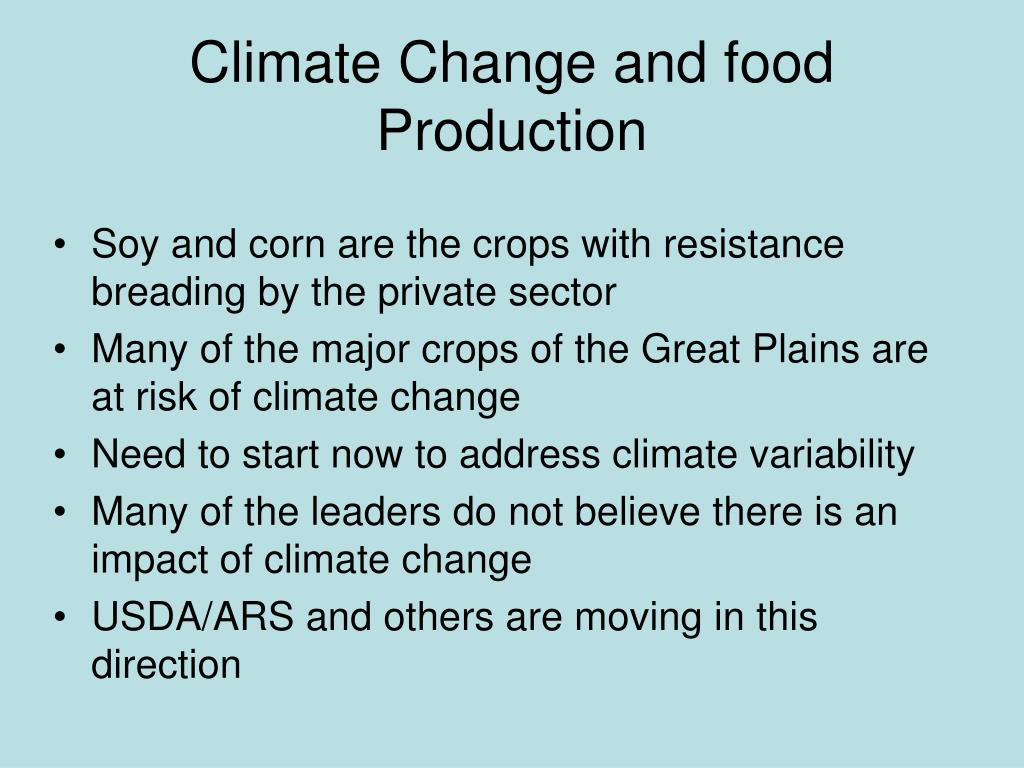 Climate Change and food Production