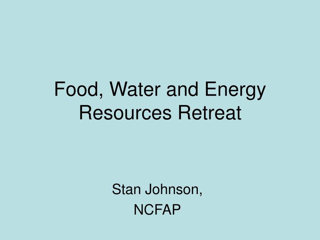 Food, Water and Energy