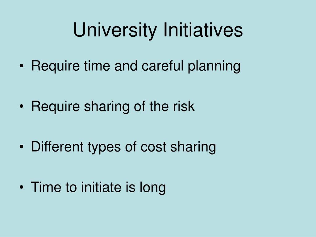 University Initiatives