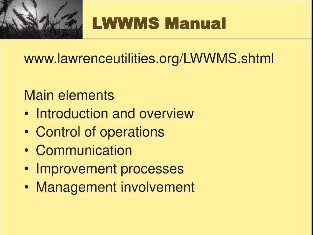 LWWMS Manual