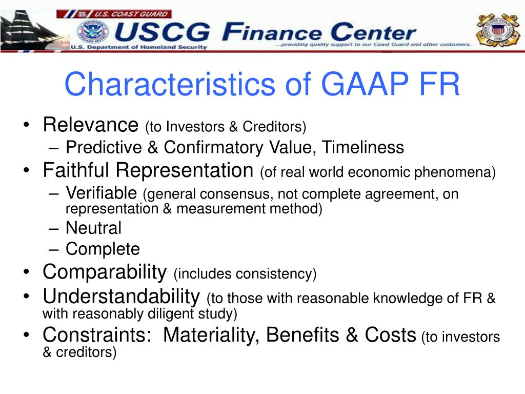 Characteristics of GAAP FR