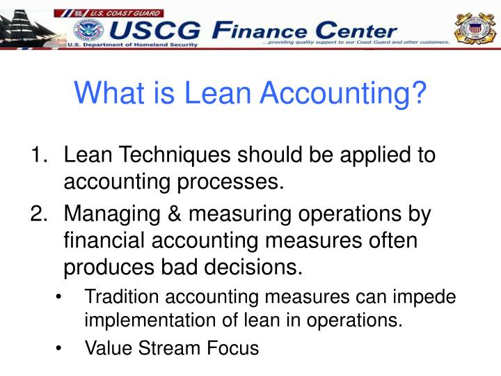 What is lean accounting