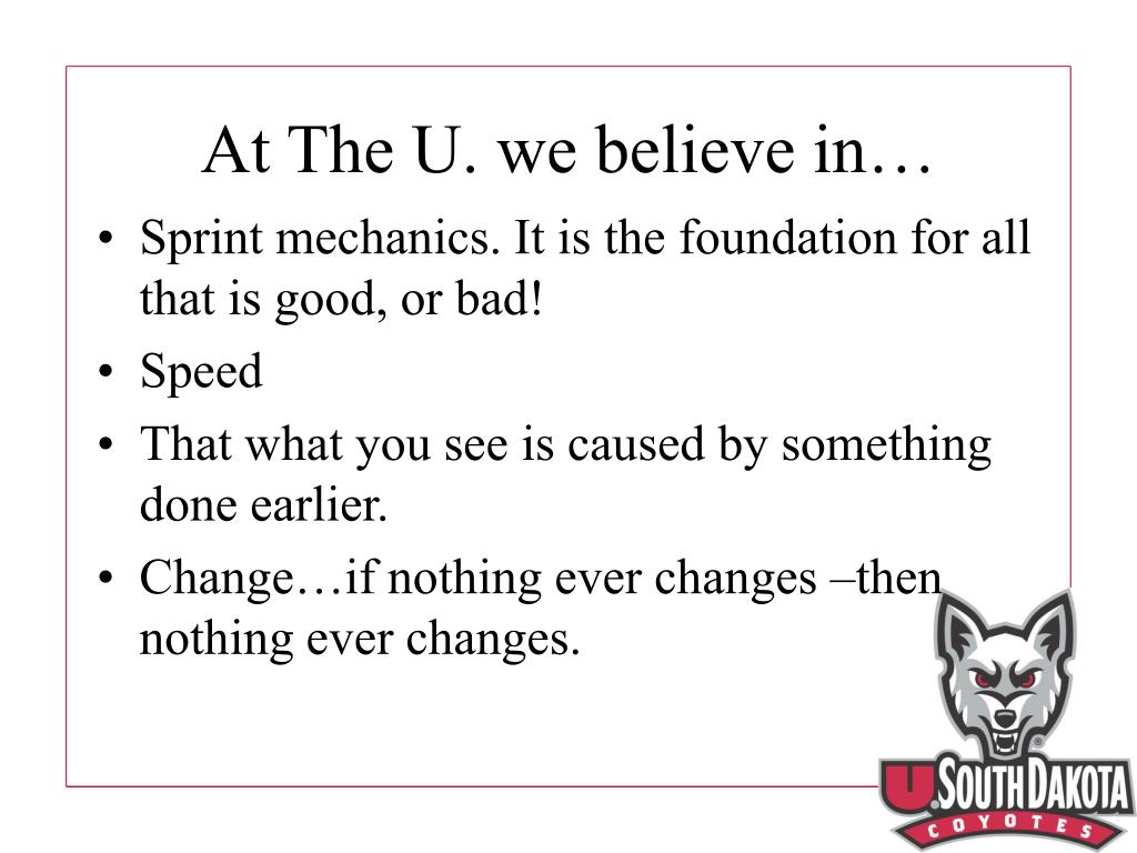 At The U. we believe in…