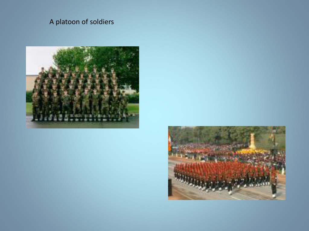 A platoon of soldiers