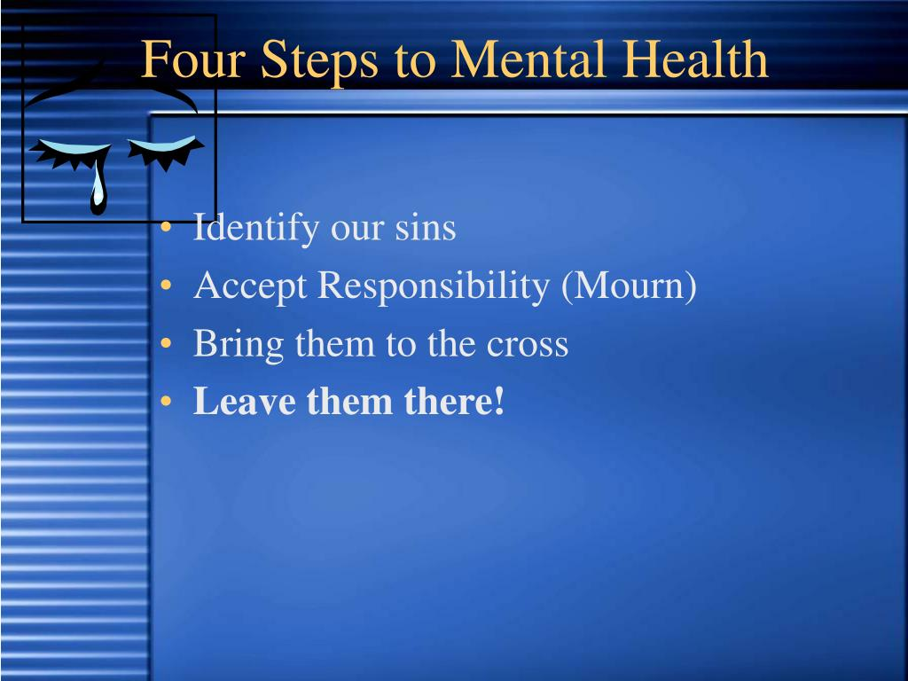 Four Steps to Mental Health