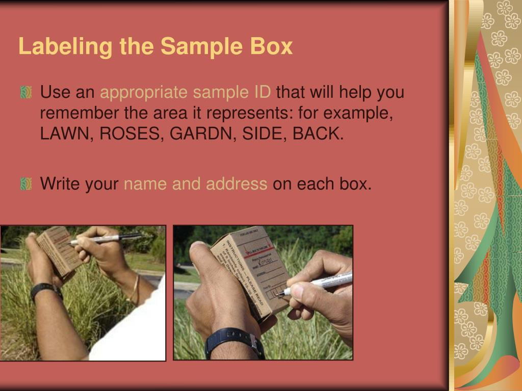 Labeling the Sample Box