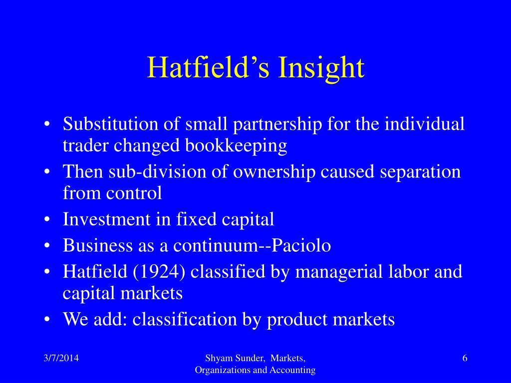 Hatfield's Insight