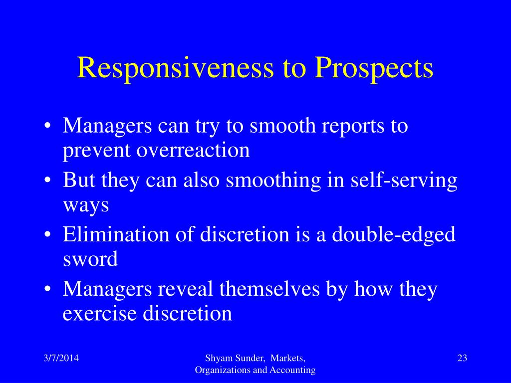 Responsiveness to Prospects