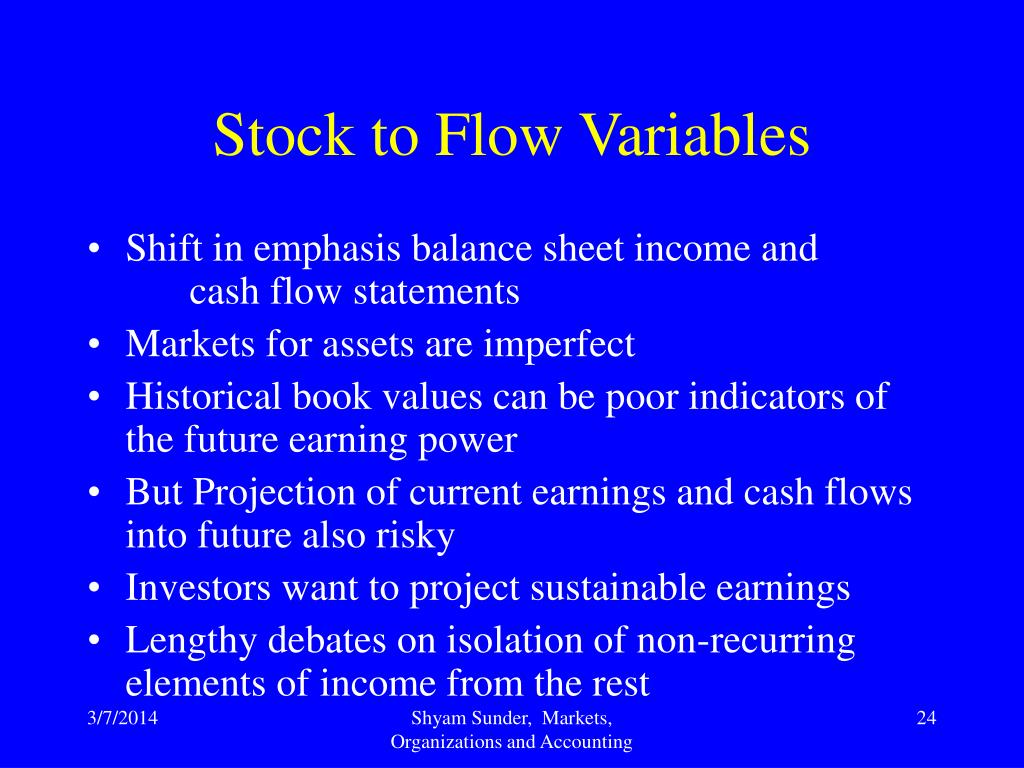 Stock to Flow Variables