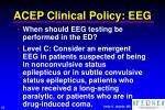 acep clinical policy eeg