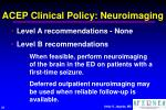 acep clinical policy neuroimaging