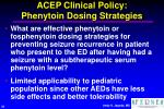 acep clinical policy phenytoin dosing strategies