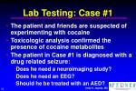 lab testing case 1
