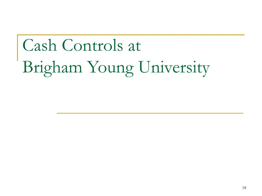 Cash Controls at
