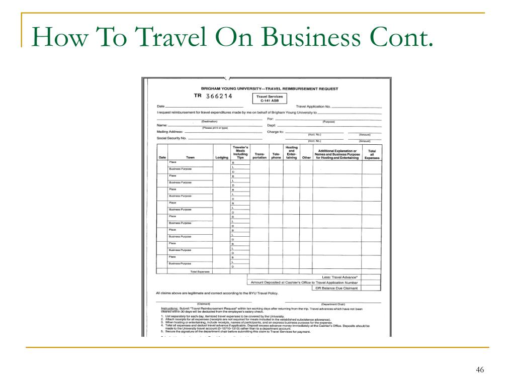 How To Travel On Business Cont.