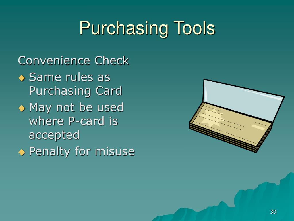 Purchasing Tools