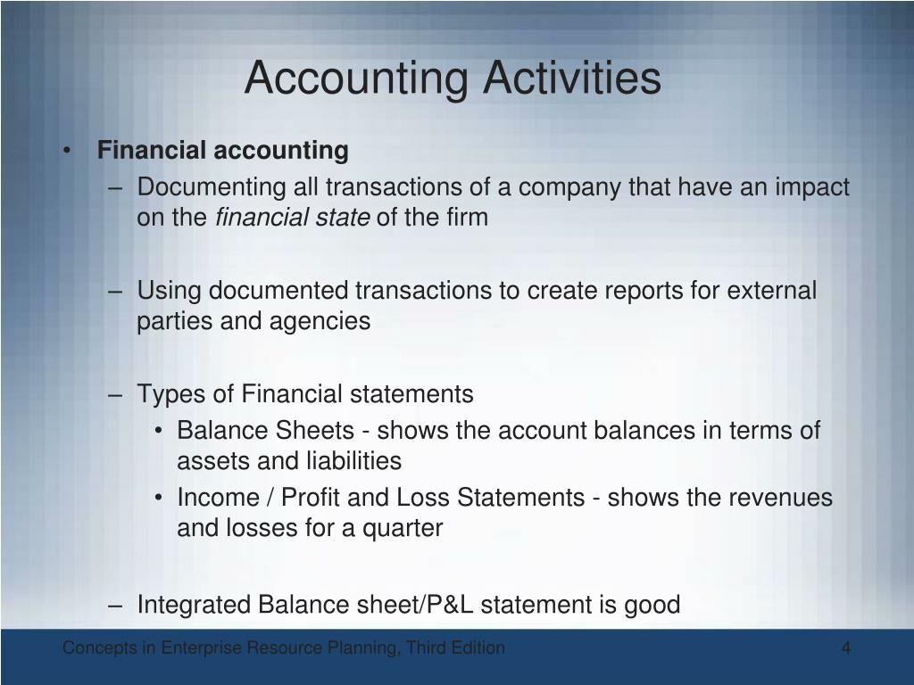 Accounting Activities