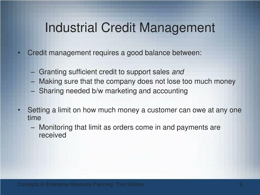 Industrial Credit Management