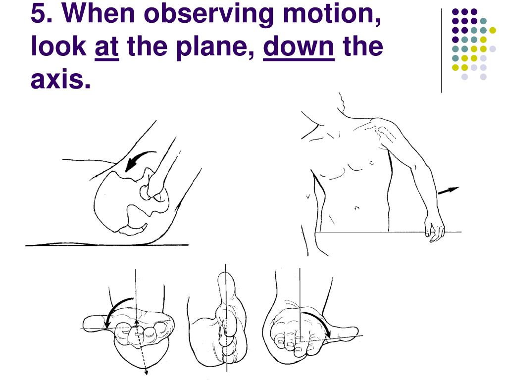 5. When observing motion, look