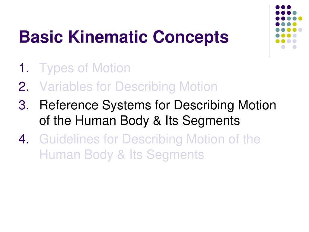 Basic Kinematic Concepts