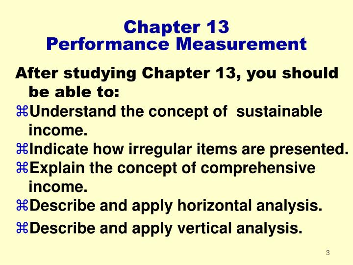 Chapter 13 performance measurement