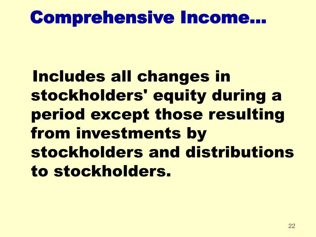 Comprehensive Income...