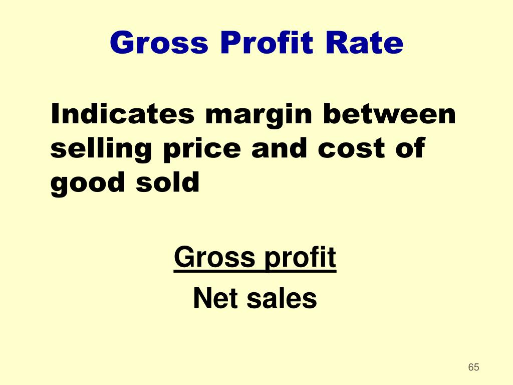 Gross Profit Rate