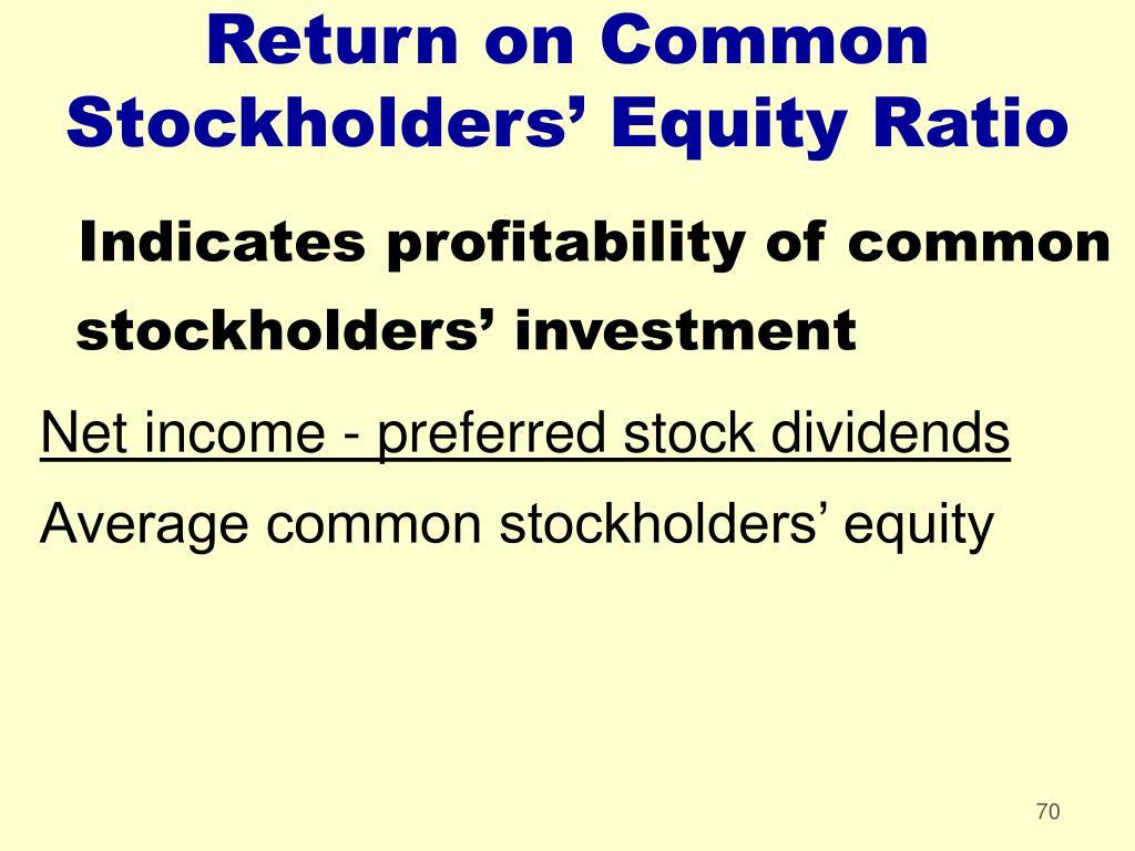 Return on Common Stockholders' Equity Ratio