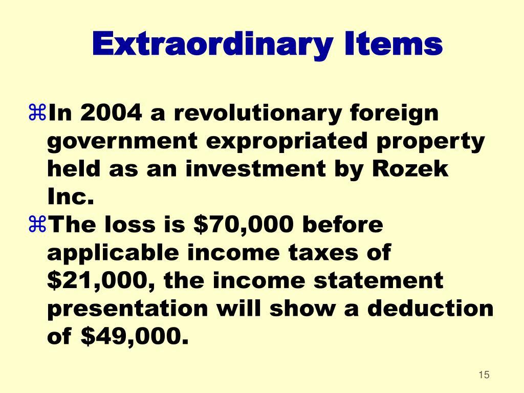 Extraordinary Items