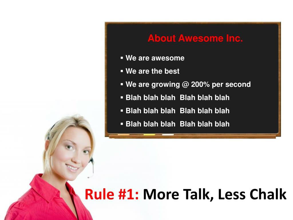 Rule #1: