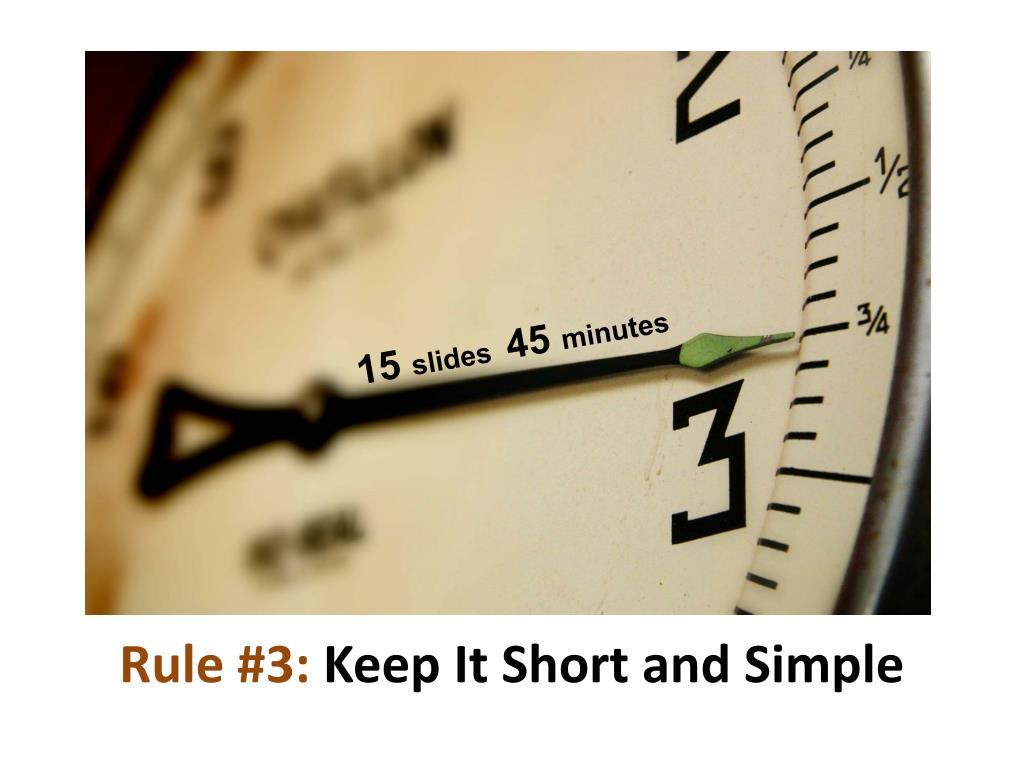 Rule #3: