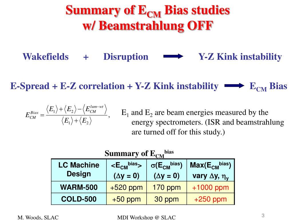 Summary of E