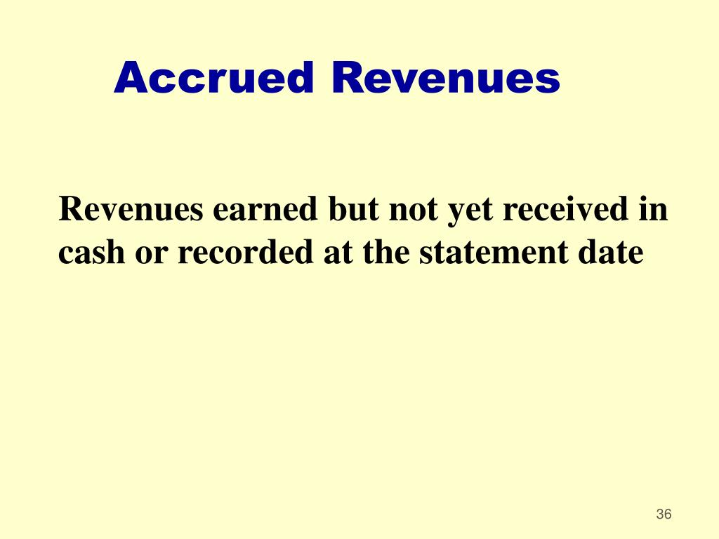 Accrued Revenues