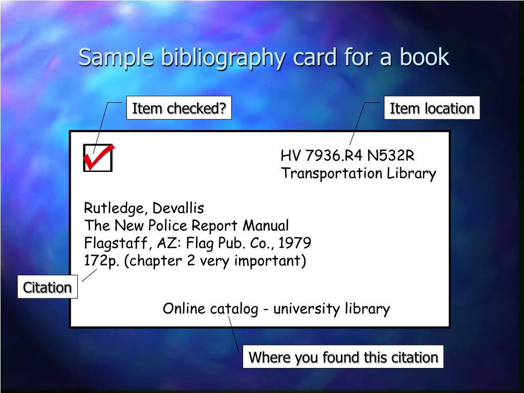 samples of bibliography