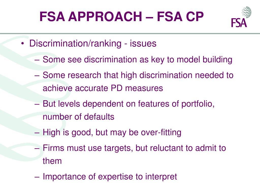 FSA APPROACH – FSA CP