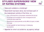 stylised supervisors view of rating systems