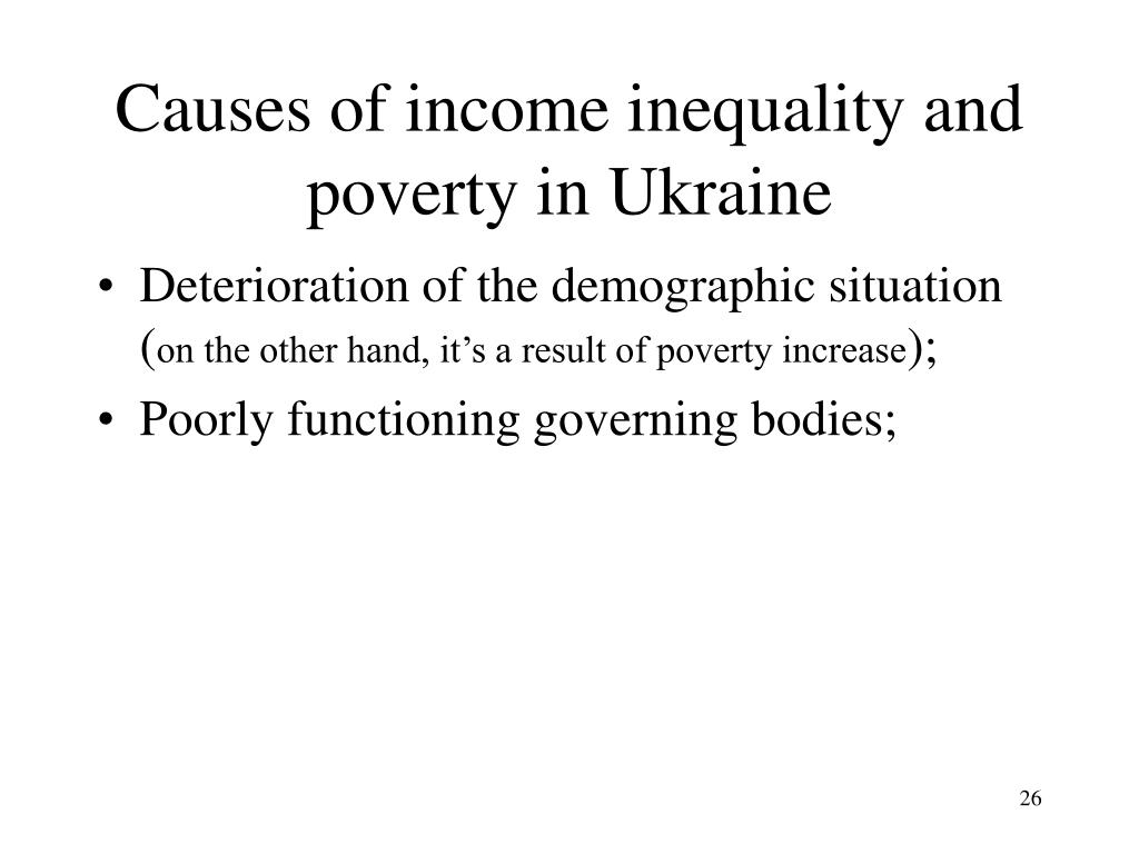 Causes of income inequality
