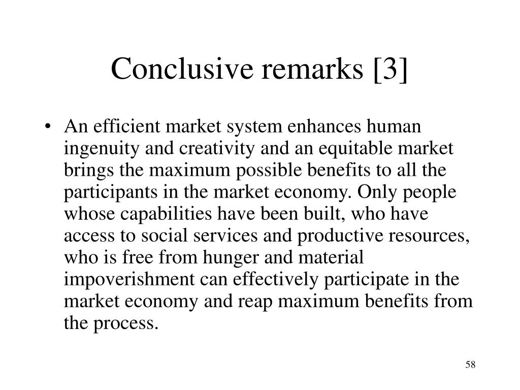 Conclusive remarks [3]