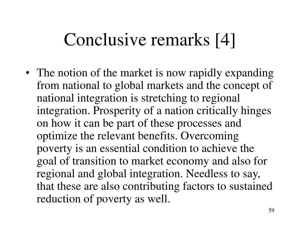 Conclusive remarks [4]