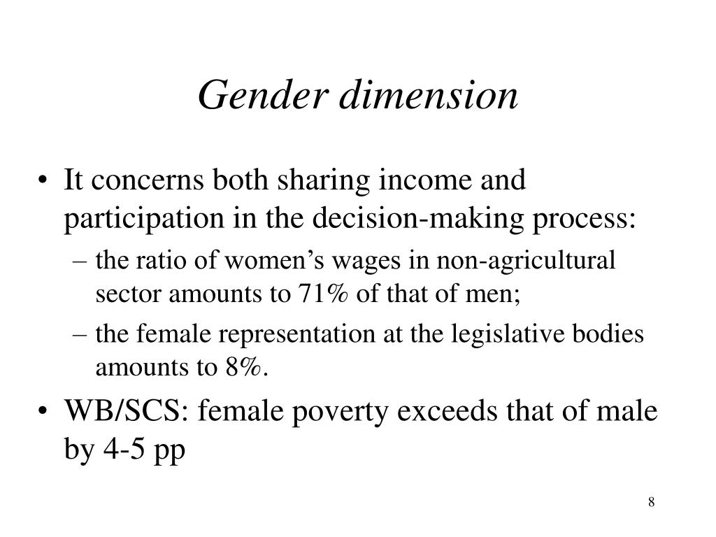 Gender dimension