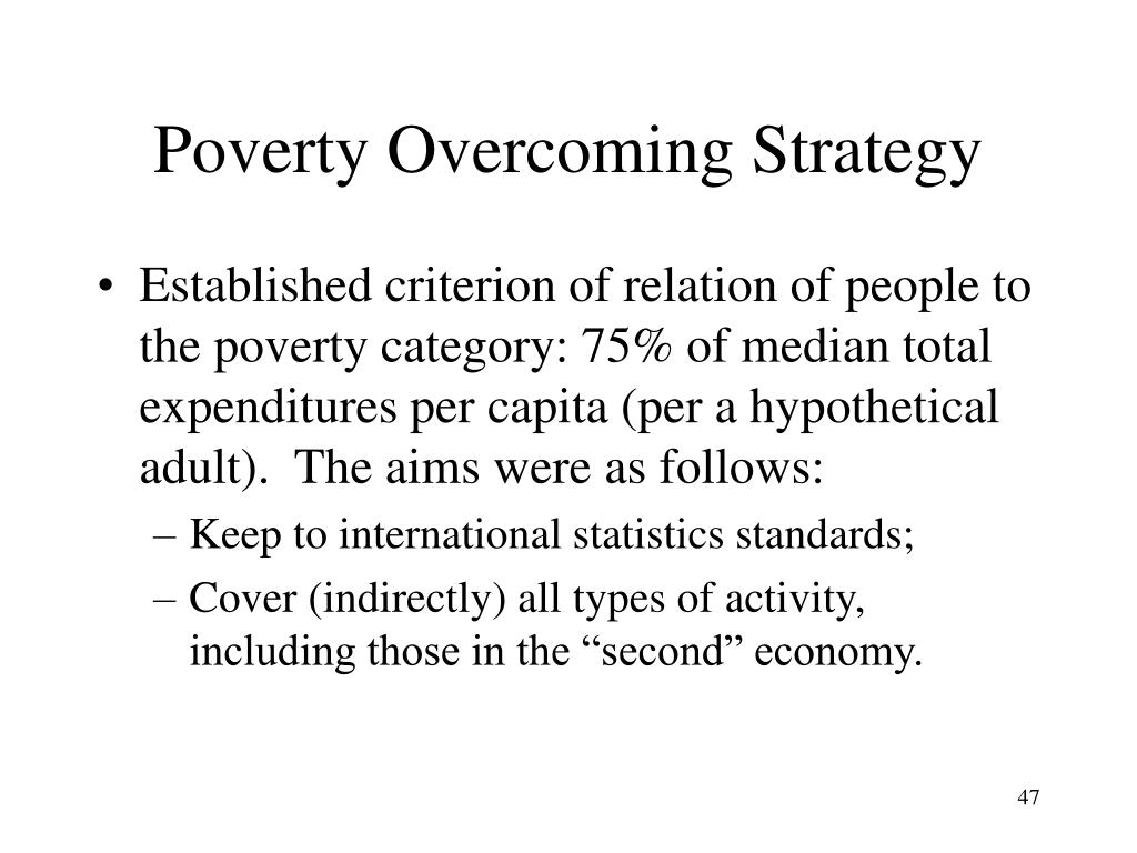 Poverty Overcoming Strategy