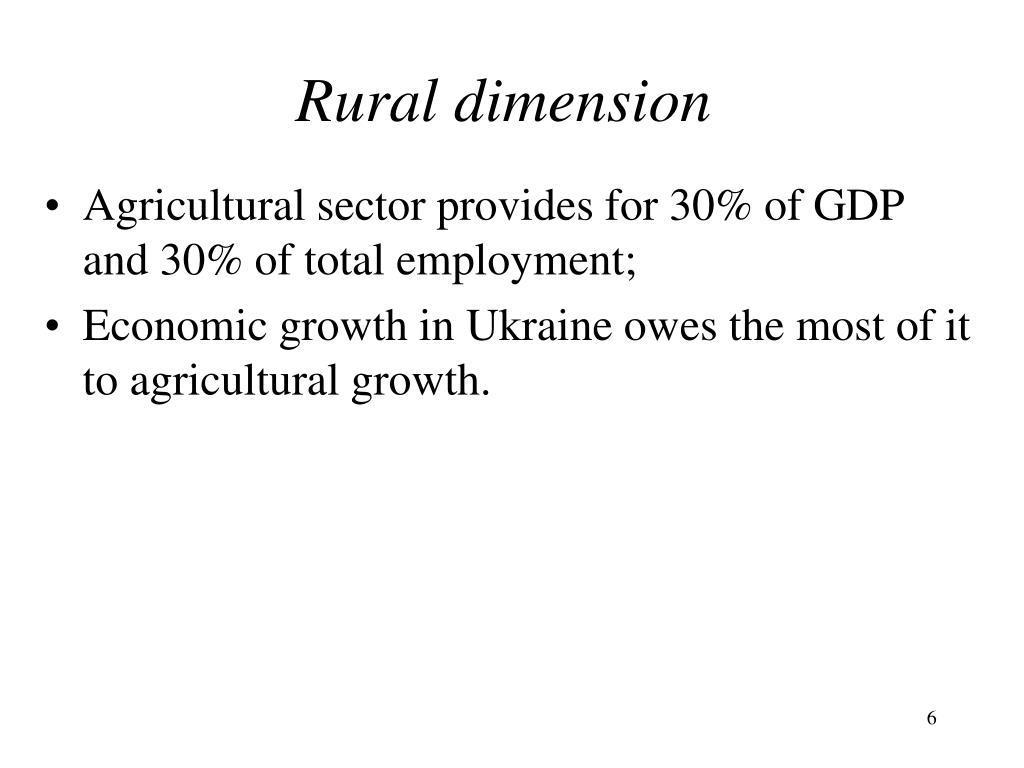 Rural dimension