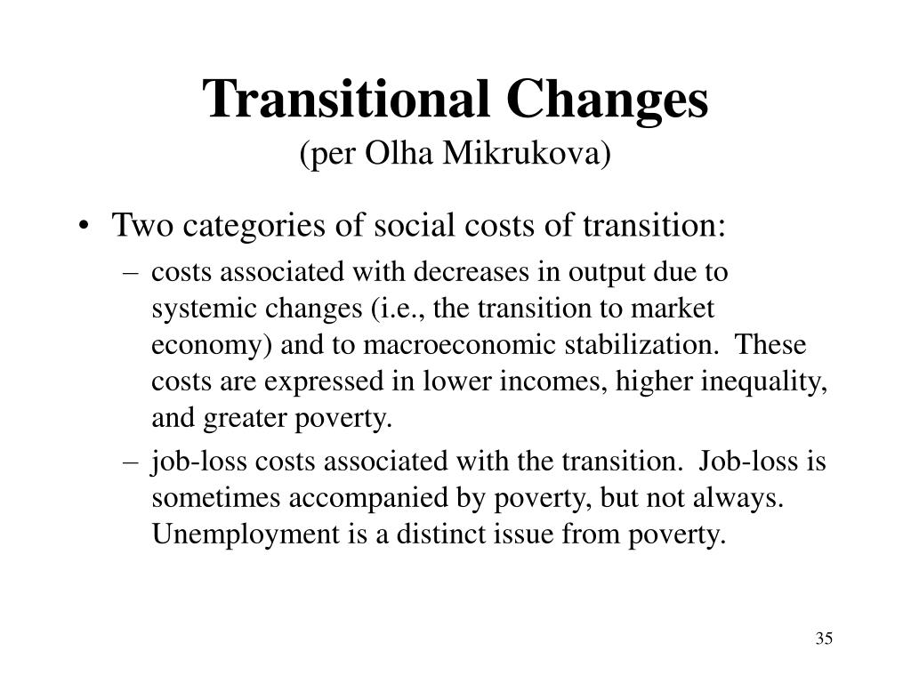 Transitional Changes