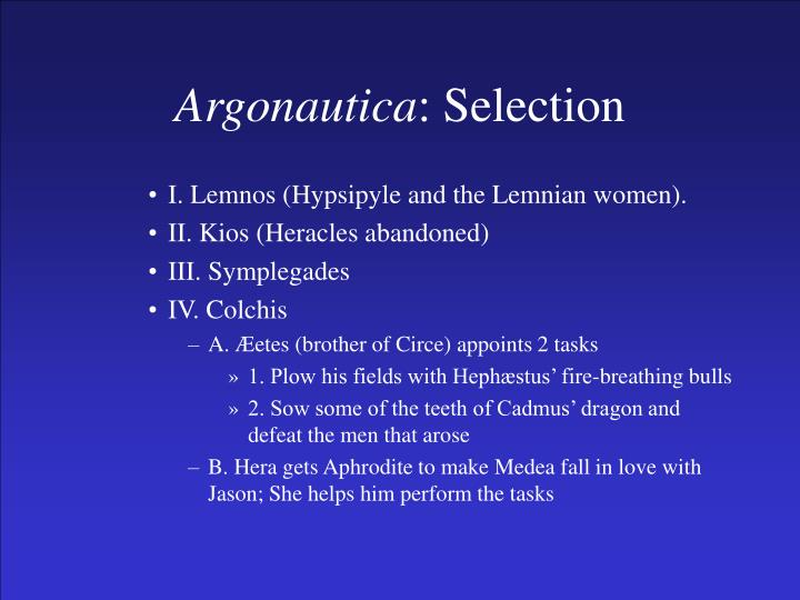 Argonautica selection