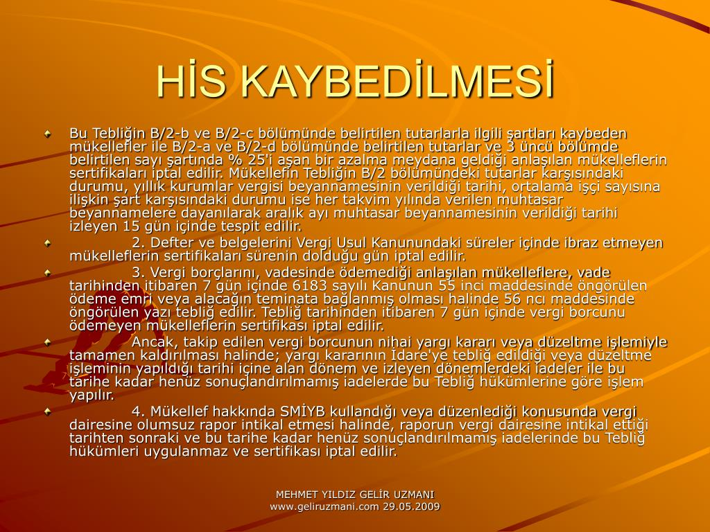 HS KAYBEDLMES