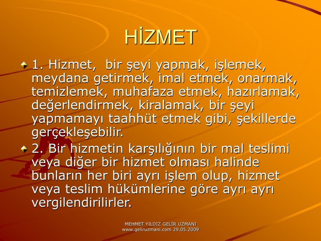 HİZMET